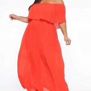 Off the shoulder maxi dress - plus size NWT